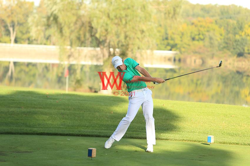 The Eastern Michigan University men's golf team compete at the 2015 Firestone Invitational. <br /> Firestone Golf Club, Akron, OH. October 6, 2015