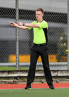 Umpire. Mens Under 21 National Hockey Championships, North Harbour Hockey Stadium, Auckland, Tuesday 7 May 2019. Photo: Simon Watts/Hockey NZ