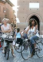 Biciclette in centro, a Ferrara.<br /> Bicycles in the center of Ferrara.<br /> UPDATE IMAGES PRESS/Riccardo De Luca