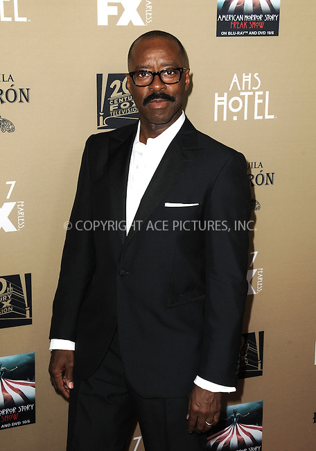 WWW.ACEPIXS.COM<br /> <br /> October 3 2015, LA<br /> <br /> Courtney B. Vance arriving at the premiere of FX's 'American Horror Story: Hotel' at the Regal Cinemas L.A. Live on October 3, 2015 in Los Angeles, California.<br /> <br /> <br /> By Line: Peter West/ACE Pictures<br /> <br /> <br /> ACE Pictures, Inc.<br /> tel: 646 769 0430<br /> Email: info@acepixs.com<br /> www.acepixs.com