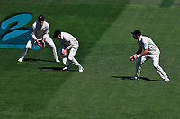 Tom Latham takes a catch to dismiss Alastair Cook, New Zealand Black Caps v England. Day 1 of the day-night, pink ball cricket test match at Eden Park in Auckland. 22 March 2018. Copyright Image: William Booth / www.photosport.nz