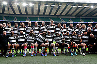 16th November 2019; Twickenham, London, England; International Rugby, Barbarians v Fiji; Barbarians squad line up for a team photo - Editorial Use