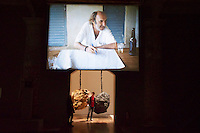 55th Art Biennale in Venice - The Encyclopedic Palace (Il Palazzo Enciclopedico).<br /> Arsenale.<br /> Jo&atilde;o Maria Gusm&atilde;o and Pedro Paiva (Portugal). 16mm films, 2006-13.<br /> Phyllida Barlow (U.K.) &quot;untitled: hanginglumpcoalblack&quot;, 2012.