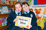 Ballylongford : Aoife & Kati's first day in Mrs. O'Sullivan in St. Oliver's NS, Ballylongford.