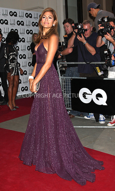 WWW.ACEPIXS.COM . . . . .  ..... . . . . US SALES ONLY . . . . .....September 8 2009, London....Eva Mendes at the GQ Men Of The Year Awards on September 8 2009  in London....Please byline: FAMOUS-ACE PICTURES... . . . .  ....Ace Pictures, Inc:  ..tel: (212) 243 8787 or (646) 769 0430..e-mail: info@acepixs.com..web: http://www.acepixs.com
