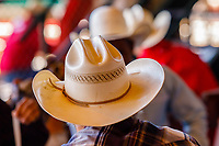 Usa,Wyoming, Cheyenne,cowboys hat at the competitiion  at Frontier days 2017