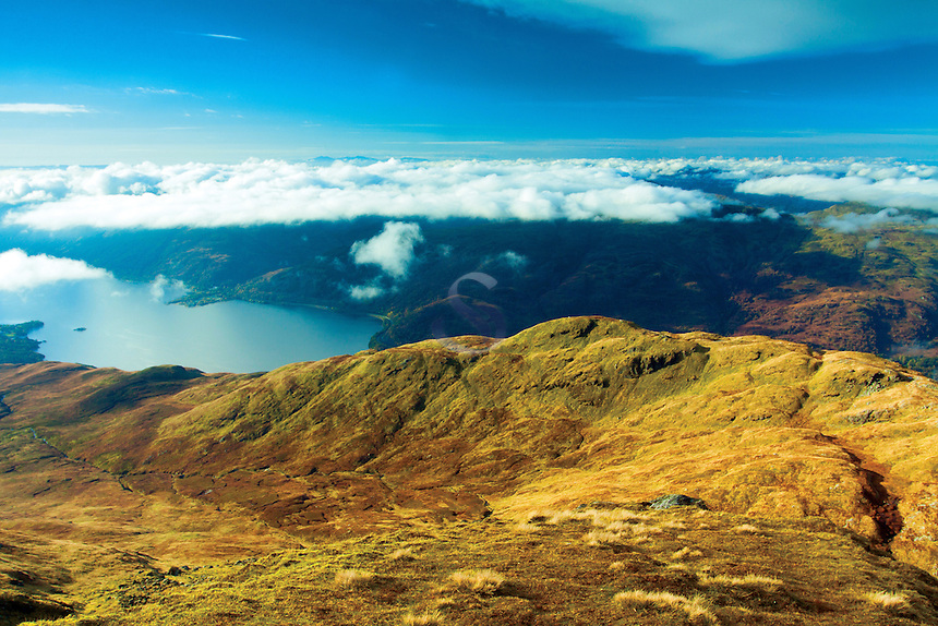 Ptarmigan Ridge and Loch Lomond from the Munro of Ben Lomond, Loch Lomond and the Trossachs National Park, Stirlingshire