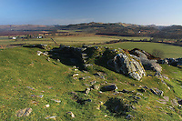 The Iron Age Fort and Hillfort of Dunadd near Kilmartin and Lochgilphead, Argyll and Bute. Dunadd is also the former seat of Kings of Dal Riata<br /> <br /> Copyright www.scottishhorizons.co.uk/Keith Fergus 2011 All Rights Reserved