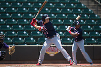 Tate Matheny (19) of the Salem Red Sox at bat against the Winston-Salem Dash at BB&T Ballpark on July 23, 2017 in Winston-Salem, North Carolina.  The Dash defeated the Red Sox 11-10 in 11 innings.  (Brian Westerholt/Four Seam Images)