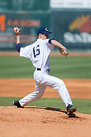 Catawba Indians starting pitcher Bryan Ketchie (16) in action against the Wingate Bulldogs at Newman Park on March 19, 2017 in Salisbury, North Carolina. The Indians defeated the Bulldogs 12-6. (Brian Westerholt/Four Seam Images)