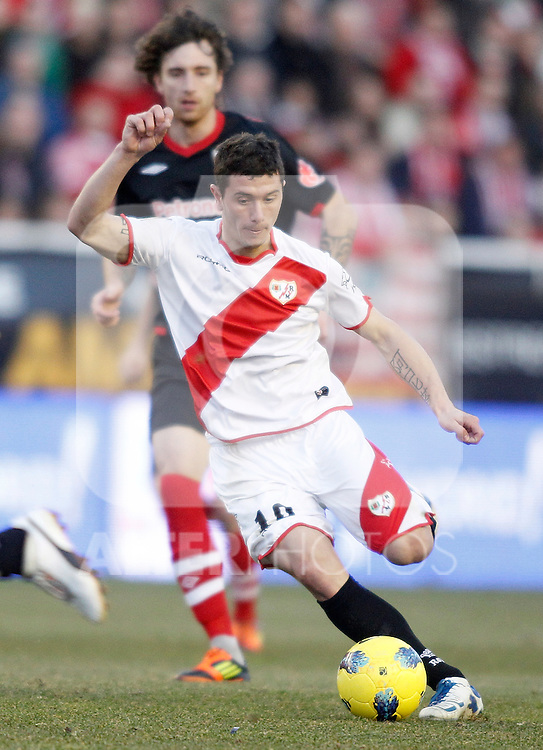Rayo Vallecano's Francisco Medina Piti during La Liga match. January 28, 2012. (ALTERPHOTOS/Alvaro Hernandez)