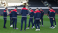 Bolton Wanderers' players inspecting the pitch before the match<br /> <br /> Photographer Andrew Kearns/CameraSport<br /> <br /> The EFL Sky Bet Championship - Hull City v Bolton Wanderers - Tuesday 1st January 2019 - KC Stadium - Hull<br /> <br /> World Copyright © 2019 CameraSport. All rights reserved. 43 Linden Ave. Countesthorpe. Leicester. England. LE8 5PG - Tel: +44 (0) 116 277 4147 - admin@camerasport.com - www.camerasport.com
