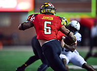 College Park, MD - NOV 25, 2017: Maryland Terrapins running back Ty Johnson (6) returns a kickoff during game between Maryland and Penn State at Capital One Field at Maryland Stadium in College Park, MD. (Photo by Phil Peters/Media Images International)