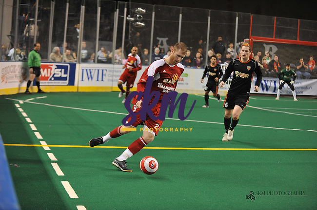 In the final regular season home game, the Baltimore Blast defeat the Wichita Wings 18 - 12.