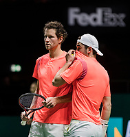 ABN AMRO World Tennis Tournament, 13 Februari, 2018, Tennis, Ahoy, Rotterdam, The Netherlands, Jasper Smit (NED) / Jesse Timmermans (NED)<br /> <br /> Photo: www.tennisimages.com