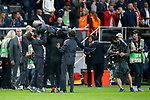 Manchester United manager Jose Mourinho is lifted in the air during the celebrationsafter the UEFA Europa League Final match at the Friends Arena, Stockholm. Picture date: May 24th, 2017.Picture credit should read: Matt McNulty/Sportimage