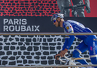 Tom Boonen (BEL/Quick Step Floors) at the start in Compi&egrave;gne.  Ready to race one final time!<br /> <br /> 115th Paris-Roubaix 2017 (1.UWT)<br /> One day race: Compi&egrave;gne &gt; Roubaix (257km)115th Paris-