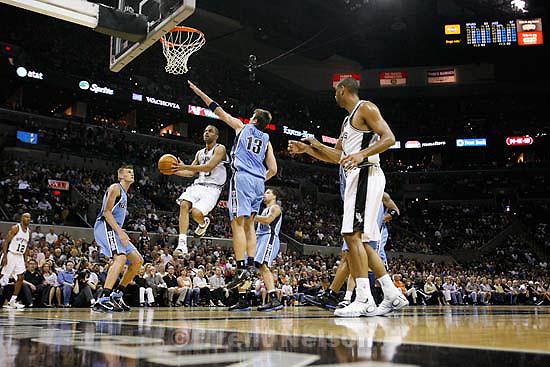 San Antonio Spurs guard Tony Parker (9) San Antonio - Utah Jazz vs. San Antonio Spurs, NBA basketball, Western Conference Finals Game One..5.20.2007