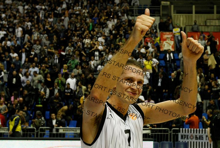 Kosarka, Euroleague, sezona 2010/2011.Partizan Vs. Khimki (Moscow).Dusan Kecman, celebrate.Belgrade, 27.10.2010..foto: Srdjan Stevanovic/Starsportphoto ©