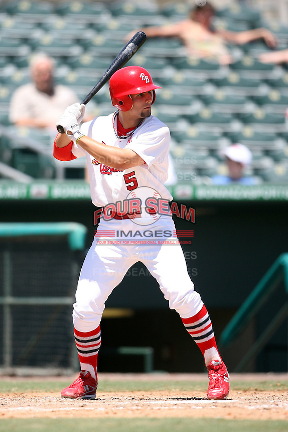 April 15, 2009:  Shortstop Pete Kozma (5) of the Palm Beach Cardinals, Florida State League Class-A affiliate of the St. Louis Cardinals, during a game at Roger Dean Stadium in Jupiter, FL.  Photo by:  Mike Janes/Four Seam Images