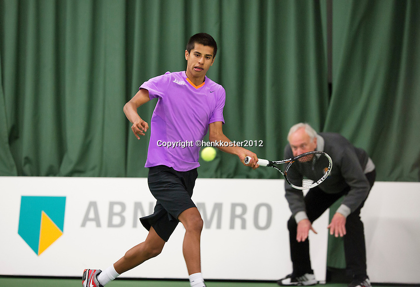 20-01-13, Tennis, Rotterdam, Wildcard for qualification ABNAMROWTT, Fabian van der Lans