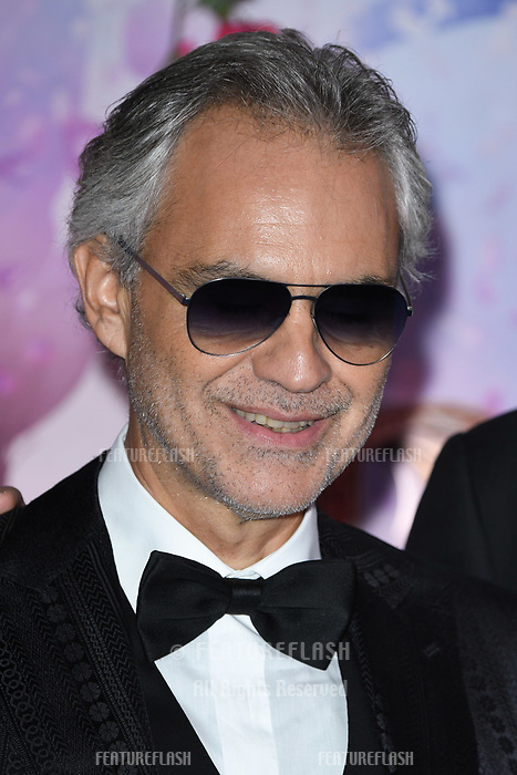 LONDON, UK. November 01, 2018: Andrea Bocelli at the European premiere of &quot;The Nutcracker and the Four Realms&quot; at the Vue Westfield, White City, London.<br /> Picture: Steve Vas/Featureflash