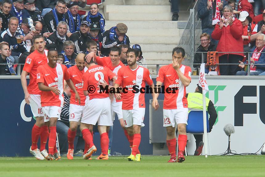 Jubel Mainz - 1. FSV Mainz 05 vs. Hamburger SV, Coface Arena, 34. Spieltag