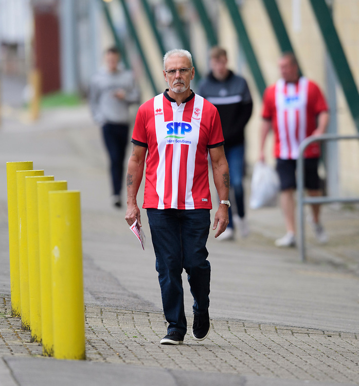 Lincoln City fans enjoy the pre-match atmosphere<br /> <br /> Photographer Chris Vaughan/CameraSport<br /> <br /> Football Pre-Season Friendly - Lincoln City v Sheffield Wednesday - Saturday July 13th 2019 - Sincil Bank - Lincoln<br /> <br /> World Copyright © 2019 CameraSport. All rights reserved. 43 Linden Ave. Countesthorpe. Leicester. England. LE8 5PG - Tel: +44 (0) 116 277 4147 - admin@camerasport.com - www.camerasport.com