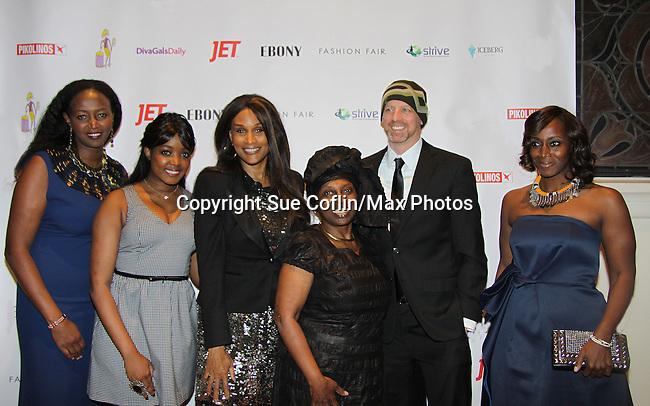 Siamanda Chege, Kimmie Smith, Beverly Johnson, Alexandreena Dixon,  -  xx - Bisila Bokoko at Color of Beauty Awards honoring supermodel Beverly Johnson on February 4, 2014 at Holy Apostles, New York City, New York. (Photo by Sue Coflin/Max Photos)