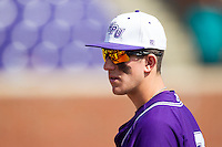 Cody Manzella (13) of the High Point Panthers prior to the game against the Coastal Carolina Chanticleers at Willard Stadium on March 15, 2014 in High Point, North Carolina.  The Chanticleers defeated the Panthers 1-0 in the first game of a double-header.  (Brian Westerholt/Four Seam Images)