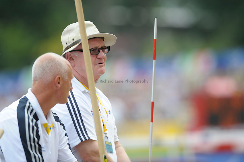 Photo: Ady Kerry/Richard Lane Photography. .Aviva London Grand Prix, Crystal Palace. 26/07/2008. .Field judges on the side of the long jump pit..