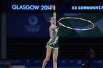 Glasgow 2014 Commonwealth Games<br /> <br /> Laura Halford (Wales) competing in the women's Individual Rhythmic Gymnastics Final.<br /> <br /> 25.07.14<br /> ©Steve Pope-SPORTINGWALES