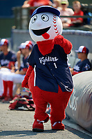 Reading Fightin Phils mascot Screwball during the first game of a doubleheader against the Portland Sea Dogs on May 15, 2018 at FirstEnergy Stadium in Reading, Pennsylvania.  Portland defeated Reading 8-4.  (Mike Janes/Four Seam Images)