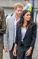 Prinz Harry und Herzogin Meghan besuchen das Famine Memorial  in Dublin / 110718<br /> <br /> <br /> *** July 11, 2018 - Dublin, Ireland. The Duke and Duchess of Sussex visit the Famine Memorial  in Dublin on day two of their visit to Ireland. *** _<br /> Credi: Action Press/MediaPunch ***FOR USA ONLY***