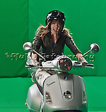 "All of these ""behind the scenes"" images were taken during the two days of filming of Vanessa's rock video, ""This Is Who I Am.""  All shot on a ""green screen,"" the background for most of this video was animated.  To see more shots of Vanessa, check out her photos in the Rock & Roll gallery."