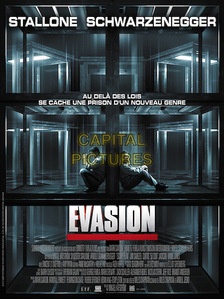 FRENCH POSTER ART<br /> in Escape Plan (2013) <br /> *Filmstill - Editorial Use Only*<br /> CAP/NFS<br /> Image supplied by Capital Pictures