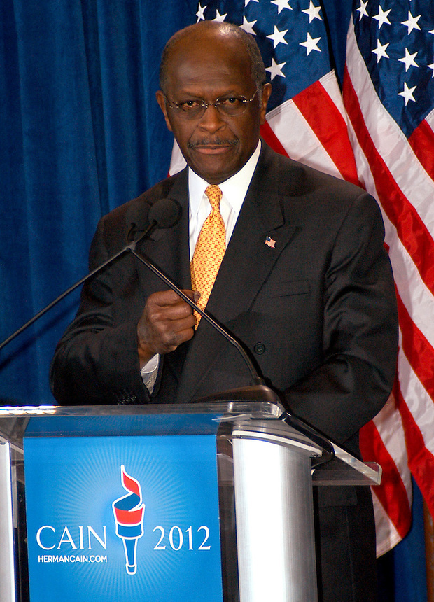 "AJ Alexander/AAP - 11-08-11, Herman Cain, GOP Candidate Defends Himself in a Press Confrence to dispute a sexual harassment allegations made by Sharon Bialek. He also accused the ""Democratic Machine"" of manufacturing the controversy, at the Scottsdale Plaza Resort, in Scottsdale Arizona, on Tuesday afternoon, November 08, 2011..Photo by AJ Alexander"