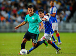 Dani Guerrero of Kitchee FC in action against Mauro Formica Blackburn Rovers during the Asia Trophy pre-season friendly match at the Hong Kong Stadium on July 30, 2011 in So Kon Po, Hong Kong. Photo by Victor Fraile / The Power of Sport Images
