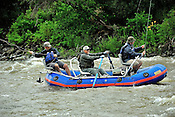 Fishermen & Women floating the Upper Colorado River fishing between Rancho Del Rio and State Bridge on August 1, 2014.