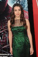 Hannah Marks at the premiere of Columbia Pictures' 'The Amazing Spider-Man' at the Regency Village Theatre on June 28, 2012 in Westwood, California. © mpi35/MediaPunch Inc. /*NORTEPHOTO.COM*<br /> **SOLO*VENTA*EN*MEXICO** **CREDITO*OBLIGATORIO** *No*Venta*A*Terceros*<br /> *No*Sale*So*third* ***No*Se*Permite*Hacer Archivo***No*Sale*So*third*©Imagenes*con derechos*de*autor©todos*reservados*.