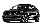 Stock pictures of low aggressive front three quarter view of a 2019 Audi SQ2 Base 5 Door SUV