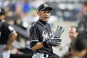 Ichiro Suzuki (Marlins),<br /> MAY 29, 2015 - MLB :<br /> Ichiro Suzuki of the Miami Marlins during the Major League Baseball game against the New York Mets at Citi Field in Flushing, New York, United States. (Photo by Thomas Anderson/AFLO) (JAPANESE NEWSPAPER OUT)