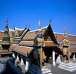 Bangkok Grand Palace statues. Bangkok, Thailand