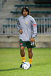 27 March 2004: Carlos Ruiz warms up before the game. Los Angeles Galaxy defeated the Kansas City Wizards 1-0 at SAS Stadium in Cary, NC in the final preseason game for both Major League Soccer teams as part of the Cary Pro Kickoff Invitational tournament..