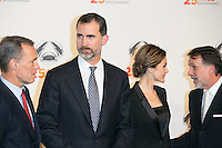 King Felipe VI and Queen Letizia attends the Antena 3 25 Aniversary at Council of Madrid, Madrid,  Spain. January 29, 2015.(ALTERPHOTOS/)Carlos Dafonte) /nortephoto.com<br />