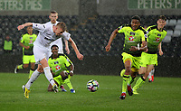 Pictured: Adam King of Swansea City scores his second goal Monday 15 May 2017<br /> Re: Premier League Cup Final, Swansea City FC U23 v Reading U23 at the Liberty Stadium, Wales, UK