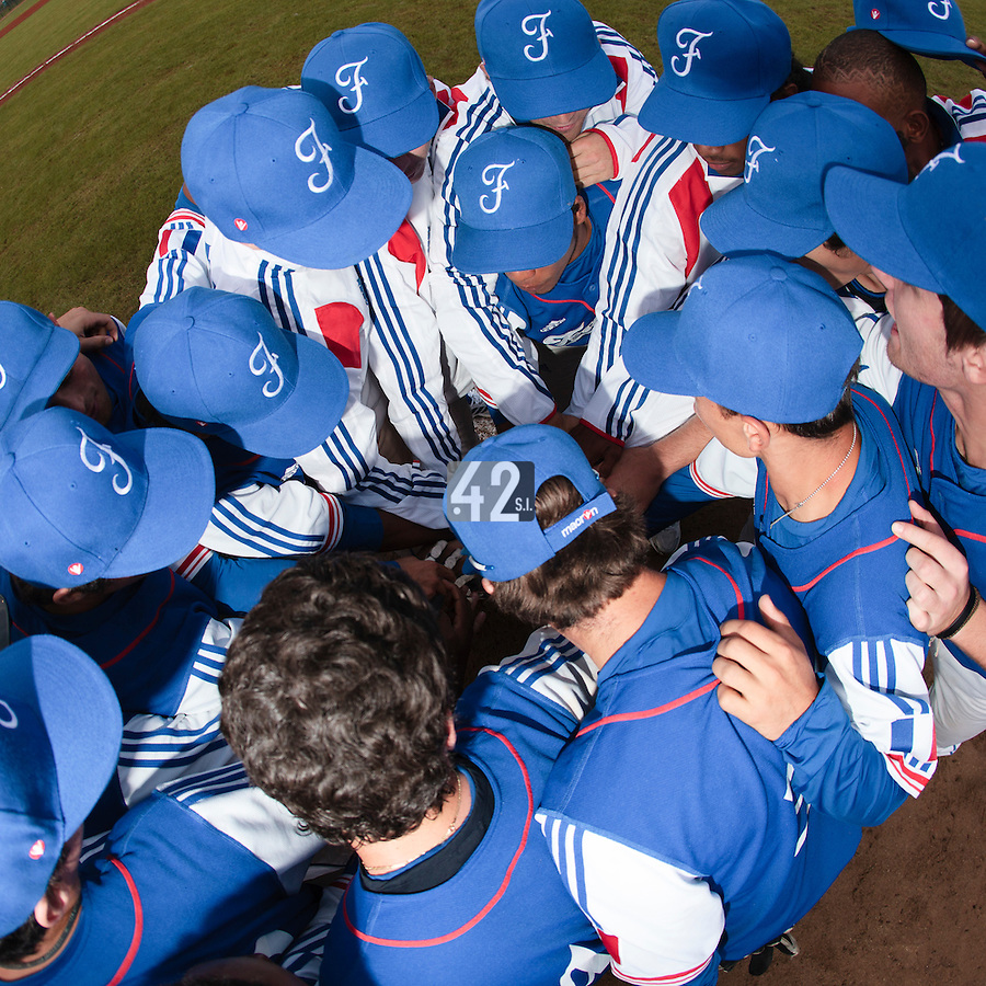 17 August 2010: Team France gathers during the Czech Republic 4-3 win over France, at the 2010 European Championship, under 21, in Brno, Czech Republic.