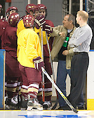 The Boston College Eagles practiced on Wednesday, April 5, 2006, at the Bradley Center in Milwaukee, Wisconsin, in preparation for their 2006 Frozen Four Semi-Final game against the University of North Dakota.