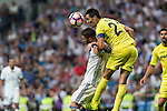 Real Madrid's Sergio Ramos and Villarreal's Bruno Soriano during the match of La Liga between Real Madrid  and Villarreal Club de Futbol at Santiago Bernabeu Estadium in Madrid. September 21, 2016. (ALTERPHOTOS/Rodrigo Jimenez)