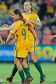 26th March 2018, nib Stadium, Perth, Australia; Womens International football friendly, Australia Women versus Thailand Women; Alex Chidiac of the Matildas celebrates scoring a first half goal